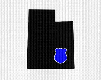 utah police svg dxf file stencil instant download silhouette cameo cricut downloads clip art state svg dxf file