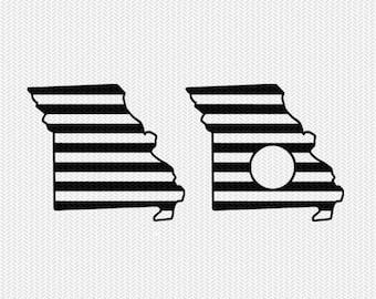 missouri stripes monogram svg dxf file download stencil silhouette cameo cricut downloads cut file downloads clip art commercial use