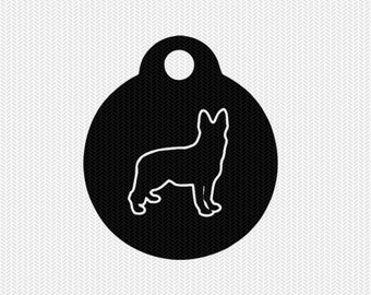 dog tag svg dxf cut file stencil silhouette cameo cricut downloads clip art commercial use