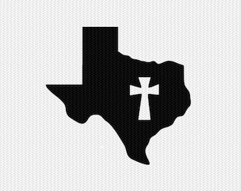 texas cross svg dxf file stencil state cut file silhouette cameo cricut download clip art commercial use