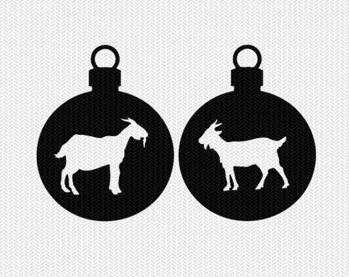 goat ornament svg gift tags cricut download svg dxf file stencil silhouette cameo cricut clip art commercial use
