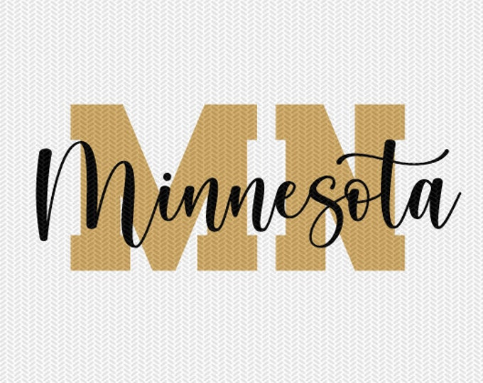 minnesota state svg dxf file instant download silhouette cameo cricut downloads clip art commercial use