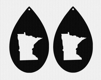 minnesota earring template earring svg gift tags cricut download svg dxf file stencil silhouette cameo cricut clip art commercial use