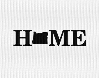 oregon home svg dxf file stencil monogram frame silhouette cameo cricut download clip art commercial use