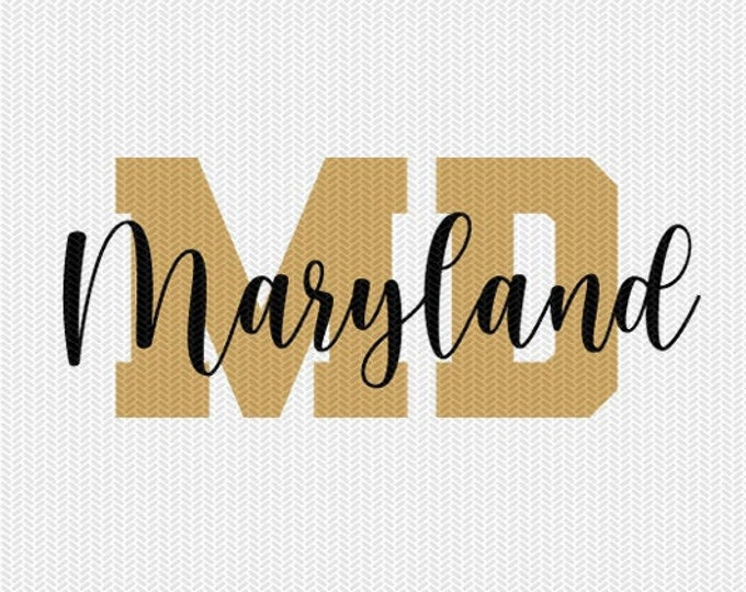 maryland state svg dxf file instant download silhouette cameo cricut downloads clip art commercial use