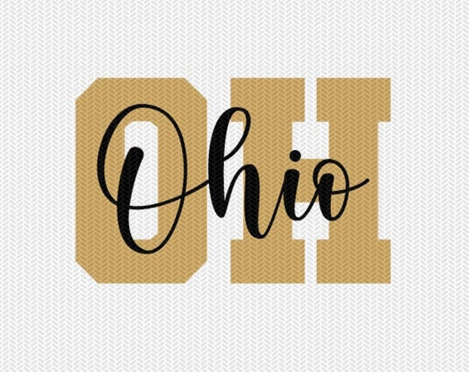 ohio state svg dxf file instant download silhouette cameo cricut downloads clip art commercial use
