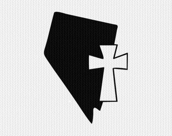 nevada cross svg dxf file stencil state cut file silhouette cameo cricut download clip art commercial use