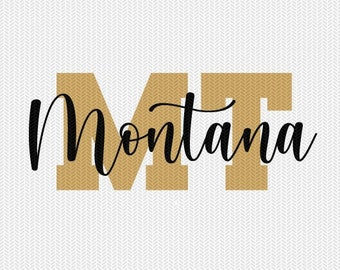 montana state svg dxf file instant download silhouette cameo cricut downloads clip art commercial use