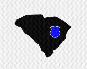 south carolina police svg dxf file stencil instant download silhouette cameo cricut downloads clip art state svg dxf file