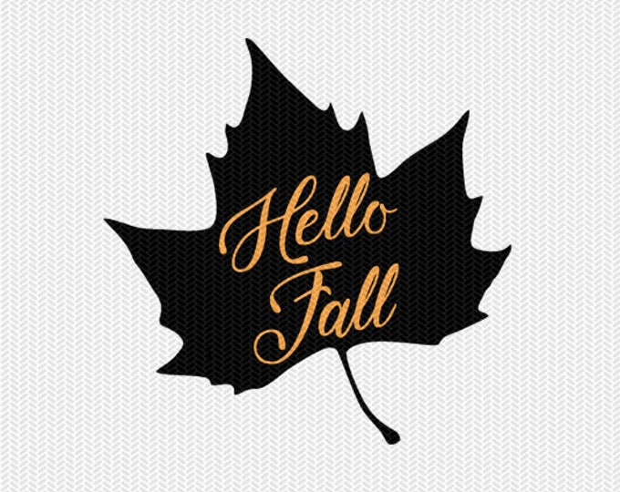 hello fall svg dxf file instant download silhouette cameo cricut clip art commercial use