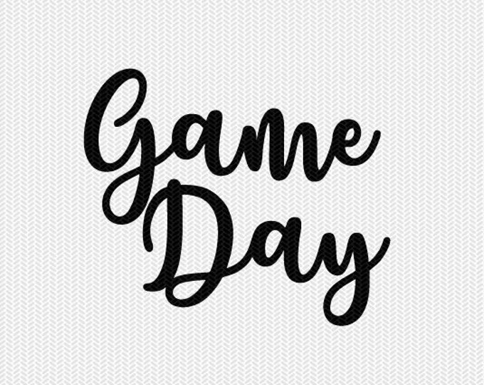 game day svg dxf file instant download silhouette cameo cricut downloads clip art commercial use