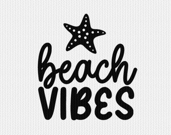 beach vibes svg dxf file stencil silhouette cameo cricut commercial use cricut downloads
