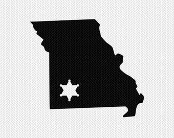 missouri sheriff svg dxf file stencil instant download silhouette cameo cricut downloads clip art sheriff state svg dxf file