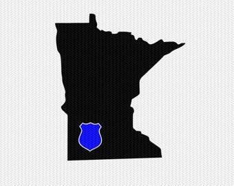minnesota police svg dxf file stencil instant download silhouette cameo cricut downloads clip art police state svg dxf file