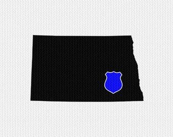 north dakota police svg dxf file stencil instant download silhouette cameo cricut downloads clip art state svg dxf file