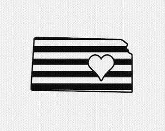 kansas stripes heart svg dxf file download stencil silhouette cameo cricut downloads cut file downloads clip art commercial use