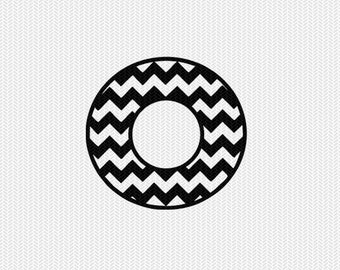 chevron circle monogram frame svg dxf file stencil silhouette cameo cricut clip art commercial use