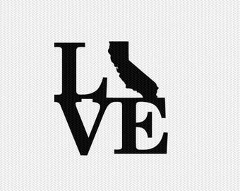 california love svg dxf file stencil monogram frame silhouette cameo cricut download clip art commercial use