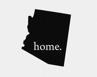 arizona home state svg dxf file stencil instant download silhouette cameo cricut downloads clip art state svg dxf file