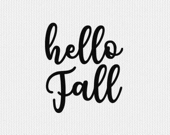 hello fall svg dxf file instant download silhouette cameo cricut downloads clip art commercial use