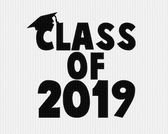 class of 2019 school svg dxf file instant download silhouette cameo cricut download clip art commercial use