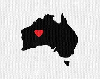 australia heart svg dxf file stencil monogram frame silhouette cameo cricut download clip art commercial use