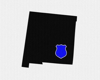 new mexico police svg dxf file stencil instant download silhouette cameo cricut downloads clip art state svg dxf file