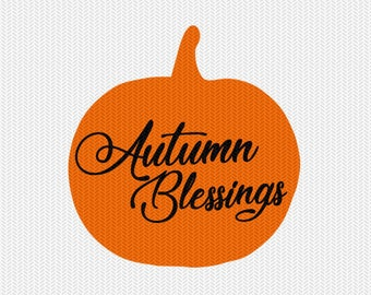 autumn blessings svg dxf file instant download silhouette cameo cricut clip art commercial use