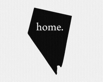 nevada home svg dxf file stencil instant download silhouette cameo cricut downloads clip art home state svg dxf file