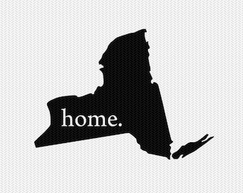 new york home svg dxf file stencil instant download silhouette cameo cricut downloads clip art home state svg dxf file