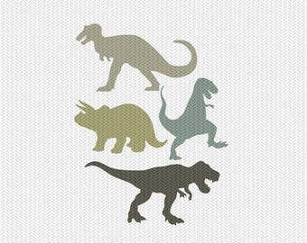 dinosaurs svg dxf file instant download silhouette cameo cricut clip art