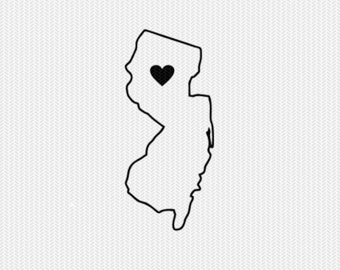 new jersey outline heart svg dxf file stencil silhouette cameo cricut download clip art commercial use