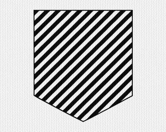 stripes pocket set svg dxf file instant download silhouette cameo cricut downloads clip art commercial use