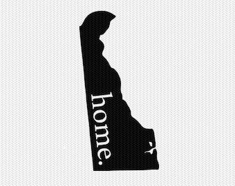 delaware home svg dxf file stencil instant download silhouette cameo cricut downloads clip art home state svg dxf file