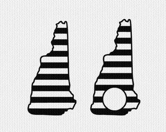 new hampshire stripes monogram svg dxf file download stencil silhouette cameo cricut downloads cut file downloads clip art commercial use