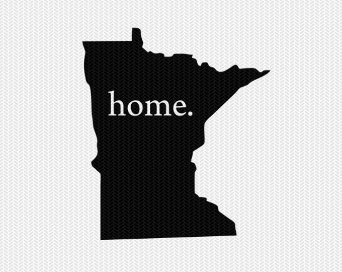 minnesota home svg dxf file stencil instant download silhouette cameo cricut downloads clip art home state svg dxf file