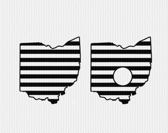 ohio stripes monogram svg dxf file download stencil silhouette cameo cricut downloads cut file downloads clip art commercial use