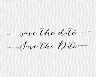 save the date overlay wedding svg dxf file instant download clip art commercial use