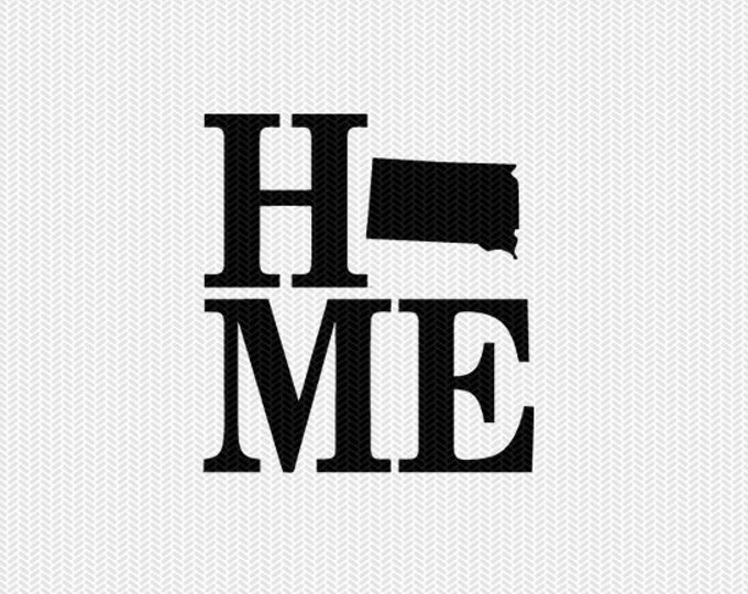 south dakota home svg dxf file stencil monogram frame silhouette cameo cricut download clip art commercial use