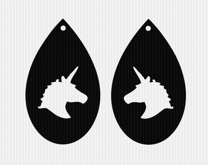 unicorn earring template earring svg gift tags cricut download svg dxf file stencil silhouette cameo cricut clip art commercial use
