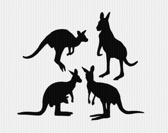 kangaroo svg dxf file instant download silhouette cameo cricut downloads clip art commercial use