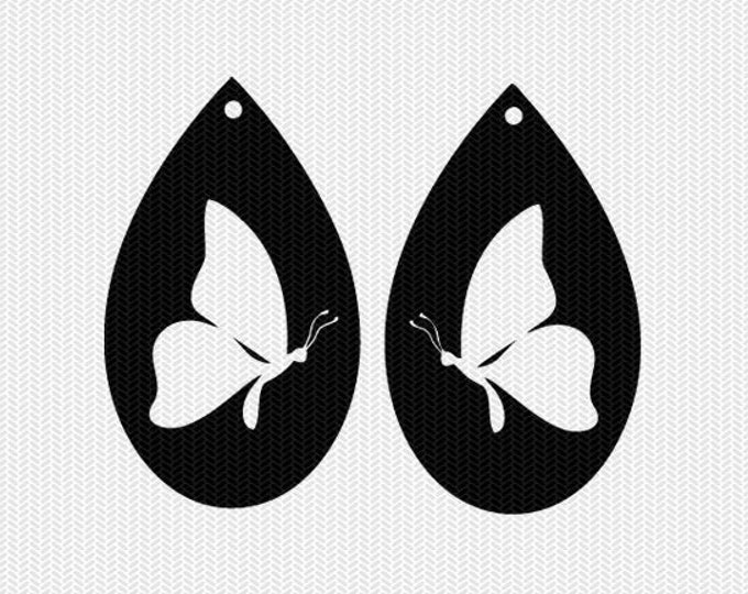 butterfly earring template earring svg gift tags cricut download dxf file stencil silhouette cameo cricut clip art commercial use