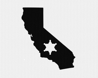 california sheriff svg dxf file stencil instant download silhouette cameo cricut downloads clip art sheriff state svg dxf file
