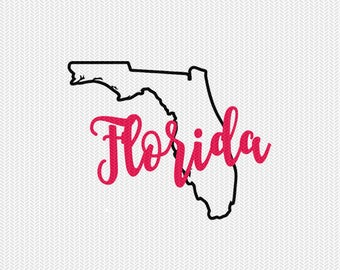 florida state outline svg dxf file stencil monogram frame silhouette cameo cricut clip art commercial use