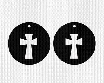 cross earring template earring svg gift tags cricut download svg dxf file stencil silhouette cameo cricut clip art commercial use