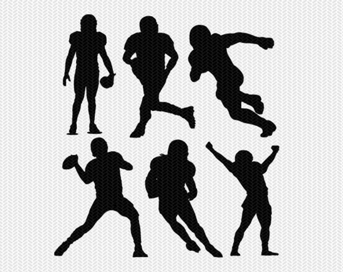 football player set svg dxf file instant download silhouette cameo cricut download clip art commercial use