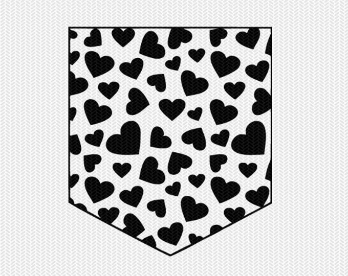 hearts pocket set svg dxf file instant download silhouette cameo cricut downloads clip art commercial use