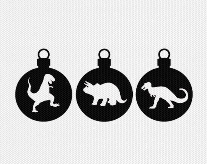 dinosaur ornament svg gift tags cricut download svg dxf file stencil silhouette cameo cricut clip art commercial use