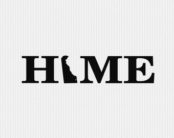 delaware home svg dxf file stencil monogram frame silhouette cameo cricut download clip art commercial use