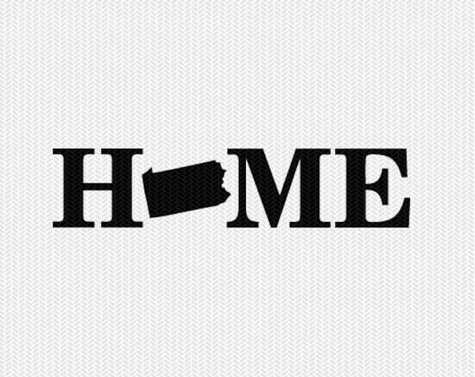 pennsylvania home svg dxf file stencil monogram frame silhouette cameo cricut download clip art commercial use
